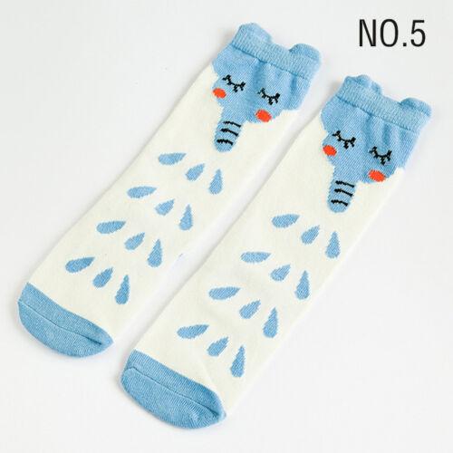 Kids Children Girls Knee High Socks Cartoon Animal Cotton Long Socks Stockings