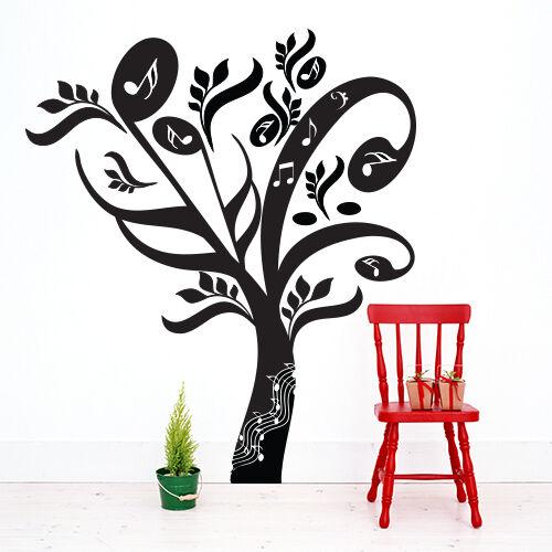 01048 Wall Stickers Sticker Adesivi Murali Decorativi Albero di Note 129x150cm