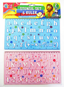2-x-Stencil-Set-Letters-and-Numbers-Alphabeth-Craft-Number-Lettering-stensil