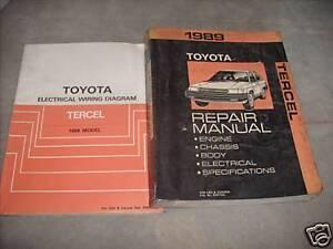 image is loading 1989-toyota-tercel-service-shop-repair-manual-set-