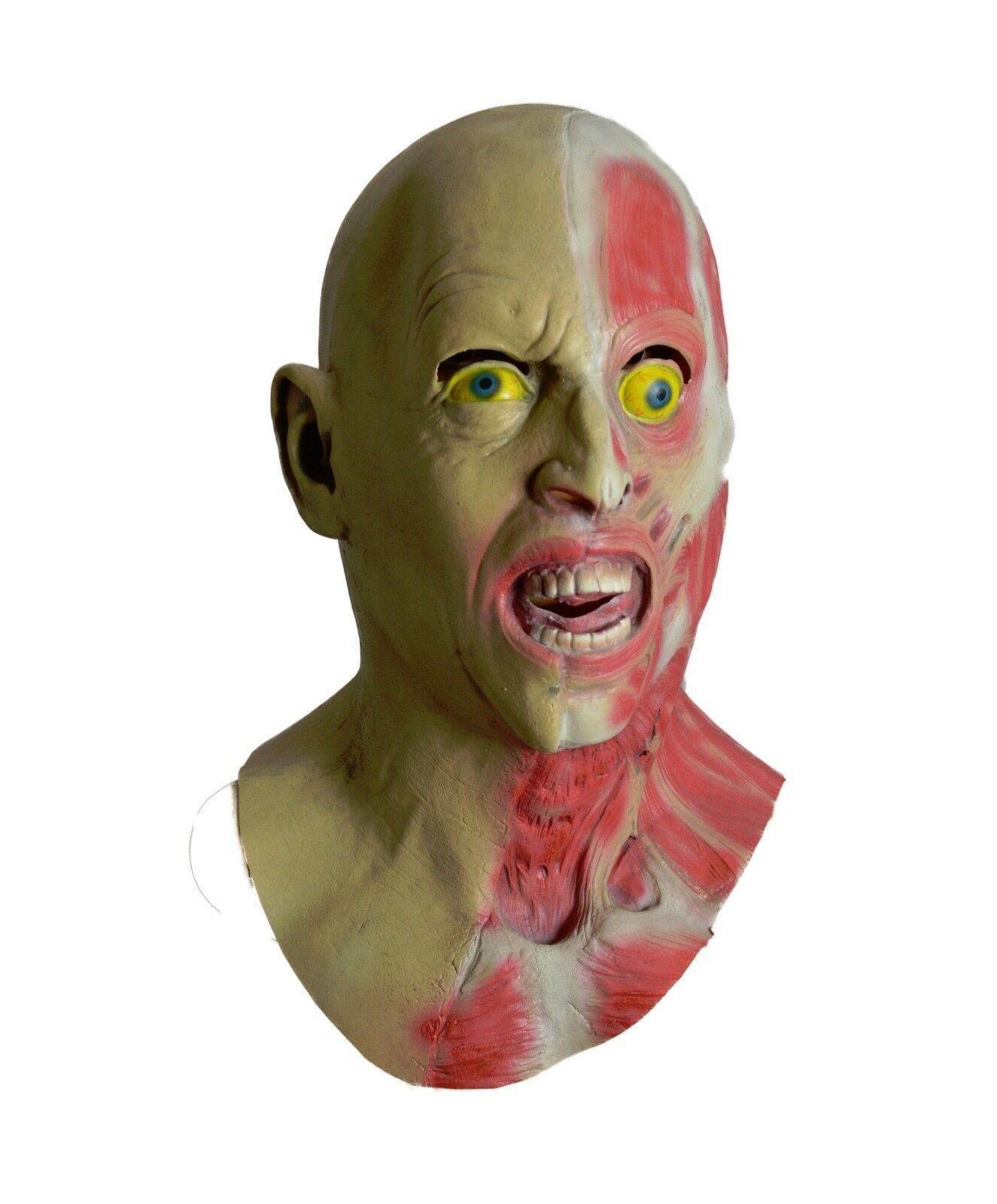Details about Zombie Mask Two Faced Halloween Fancy Party Overhead Latex  Gory Masks