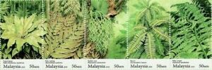 SJ-Fern-Of-Malaysia-2010-Flower-Plant-Flora-stamp-in-strip-MNH