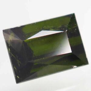 2.08 Carats NATURAL Green TOURMALINE Mozambique Baguette 8x6x5mm Unheated