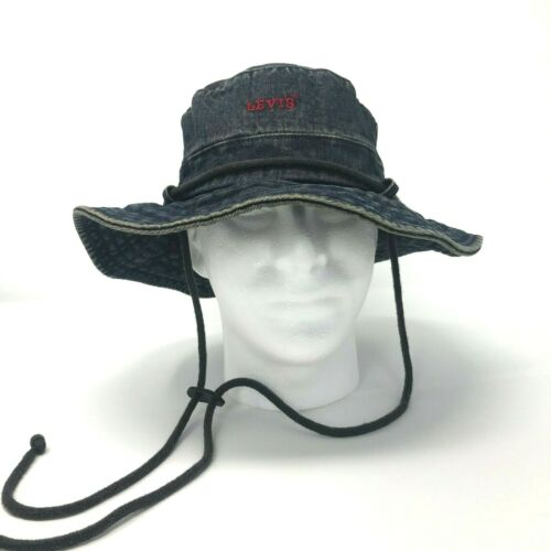 Levis Denim Bucket Sun Brim Fishing Garden Hiking
