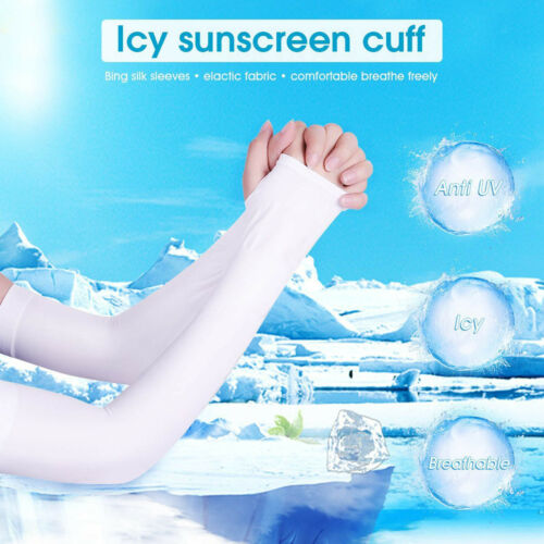 Arm Sleeves Ice Silk UV Protection Cooling Or Warmer Arm Sleeves Sun Protection