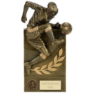 A1870a Heavy Résine Football Trophy Taille 16.0 Cm Gravure Gratuite-afficher Le Titre D'origine