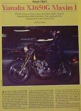 YAMAHA 650 XJ650G MAXIM I Motorcycle Road Test 1980