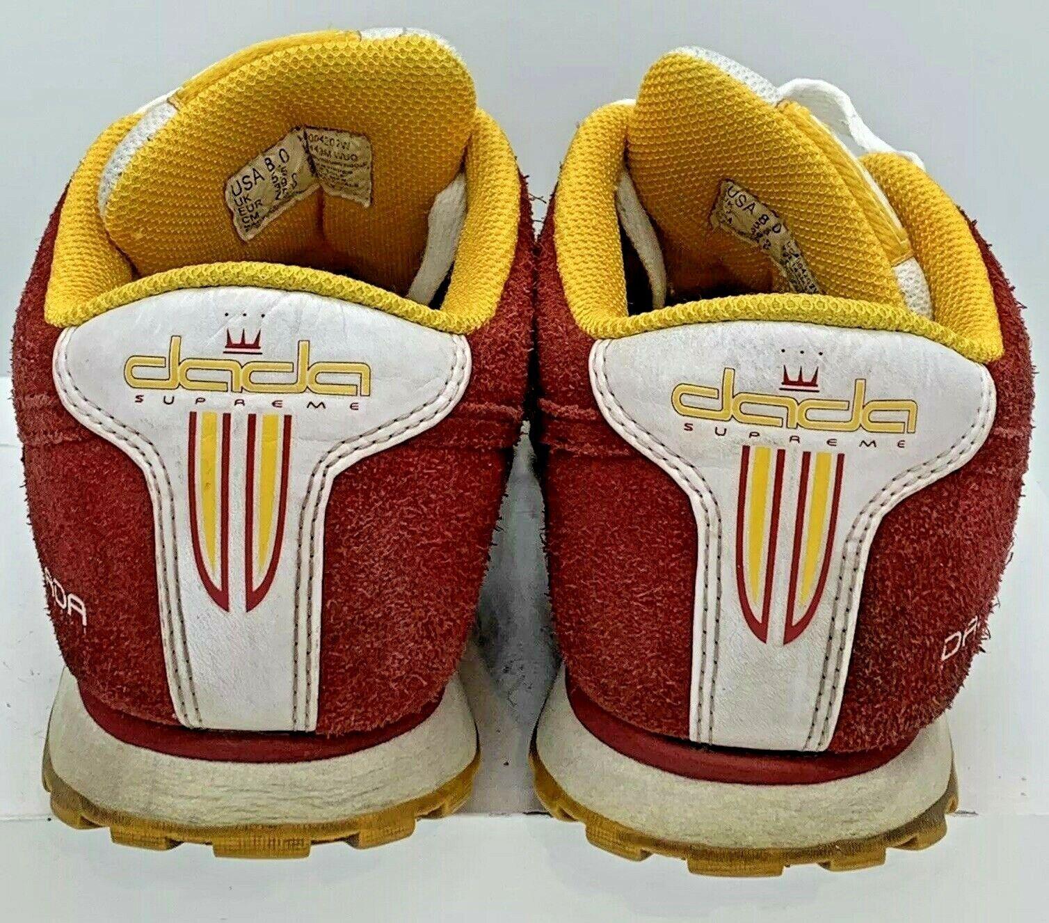 Dada Supreme Supreme Supreme Donna  rosso bianca giallo Parkour Running Athletic Crown scarpe US 8 7c67a4