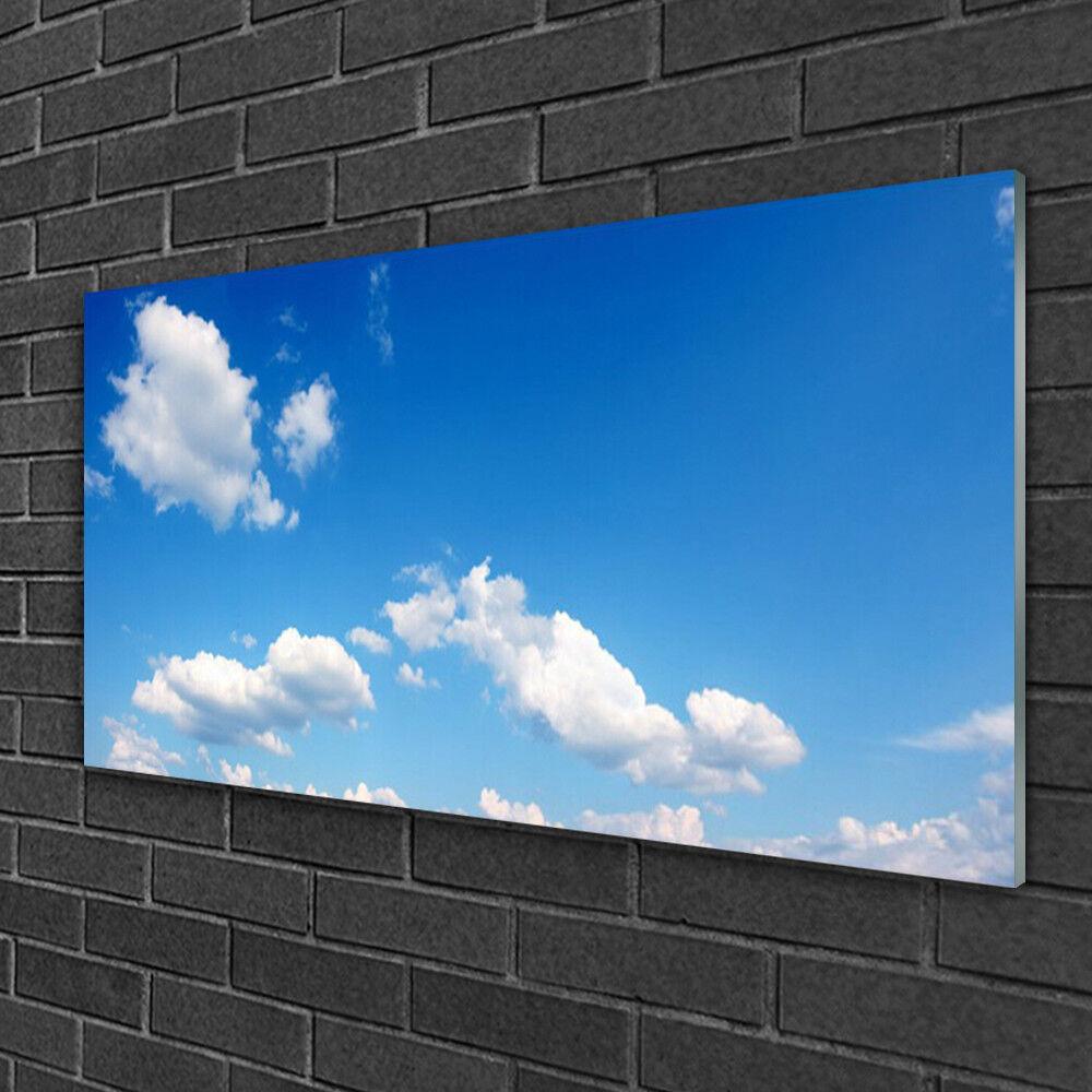 Image sur verre acrylique Tableau Impression 100x50 Paysage Ciel
