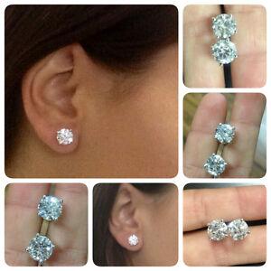 4-CT-Round-Cut-Diamond-Stud-Earrings-D-VS1-18K-White-Gold-WEDDING