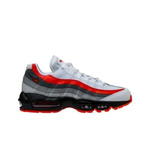 new style 9ea80 bc9d6 Image is loading Nike-Air-Max-95-Essential-White-Bright-Crimson-