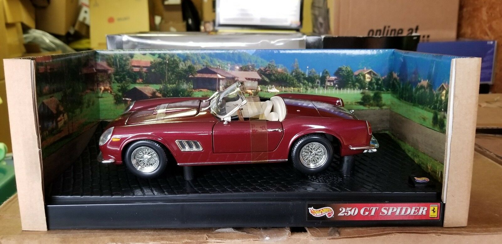 1 18 Hot Wheels Ferrari 250 GT Spider rojo