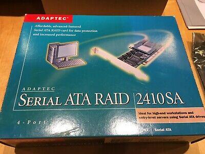 ADAPTEC AAR-2410SA//64MB 4-PORT SATA RAID CONTROLLER CARD w// 4 CABLES