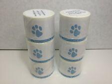 Veterinary Prescription Labels Blue Paw Print Amp Warning 2 18 X 2 34 6 Rolls