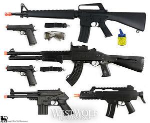 Details about LOT of New 6 Airsoft Guns/Rifles --  Shotgun/Pistol/1911/M16/M4/props + Extras !
