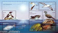 "Namibia - ""BIRDS ~ ENDANGERED MARINE LIFE"" MNH MS 2011 !"