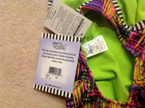 Dolfin Uglies Swimsuit Multi New Size 24/'/' to suit ~5 yrs RRP £32.99 with tags