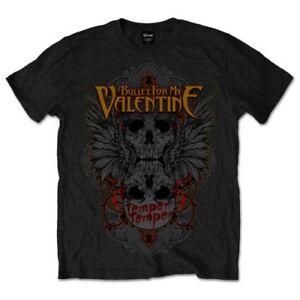 Bullet For My Valentine T-shirt Temper Winged Skull Official Merchandise Soulager La Chaleur Et La Soif.