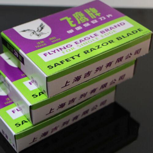 20packs Lame de Rasoir Pour Bord unique sécurité Art Chine Gillette Tools