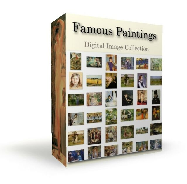 Over 3000 famous paintings digital format Sisley, Monet, Cortes, Carracci on dvd