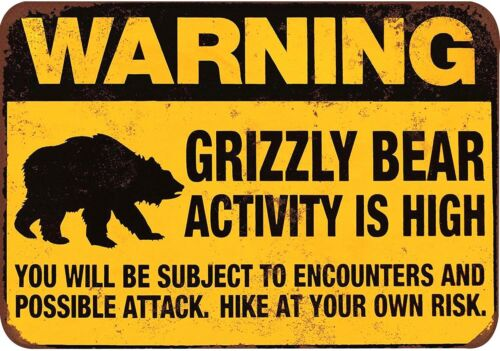 US Seller wall to wall decorating grizzly bear activity is high warning sign