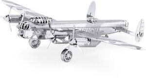 Lancaster-Bomber-3D-Metal-Kit-Silver-Edition-Metal-Earth-1067