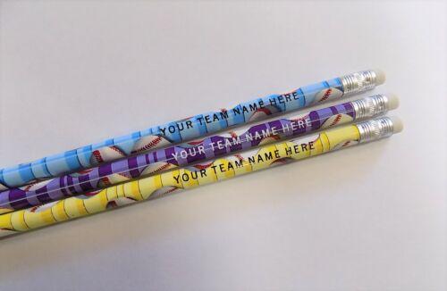 12 Baseball Fanatic Personalized Pencils