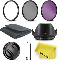 58mm Lens Filter Accessory Kit For Canon Eos Rebel T6i T6 T5i T4i T3i Sl1 Camera