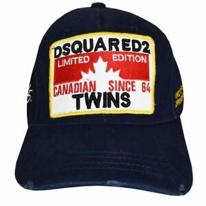 1e8468aec42 Dsquared2 Hat NAVY Canadian SINCE 64