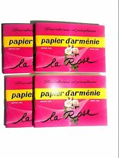 Papier d'Armenie, Room Deodorizer, La Rose, Francis Kurkdjian Mix,  4  Booklets