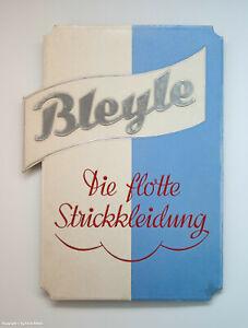 ALTES-Pappschild-BLEYLE-Die-flotte-Strickkleidung-um-1935