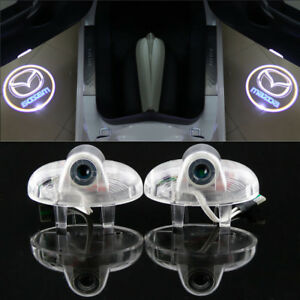 2X LED door step courtesy laser projector light For Mazda 8 RX-8 mazda 6 atenza