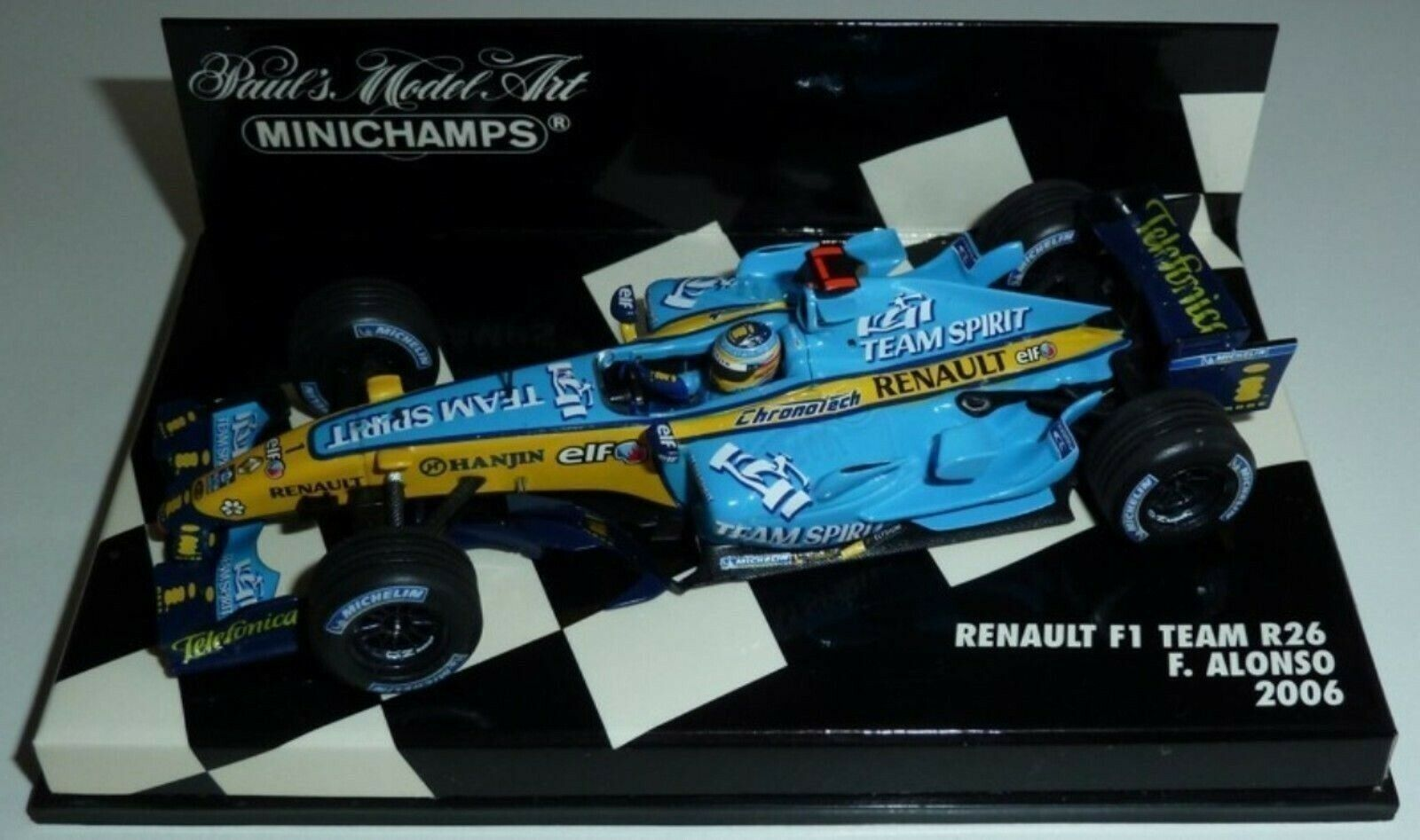 WOW EXTREMELY RARE Renault R26 Fer Alonso GP Nürburgring 2006 1 43 Minichamps