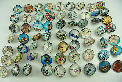 new hot sell 10pcs mix Alloy lampwork Round Chunks Snap Button Noosa charm 20mm