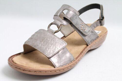 Rieker Sandales Argent haute technologie Velcro Femmes