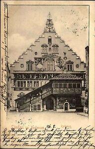 Lindau Bodensee 1903 Strassen Partie am Rathaus Gebäüde alte Ansichtskarte
