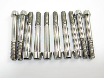 Titanium M10 x 80mm 1.25 Pitch Hex Taper Socket Cap Head Ti Bolts Screw 2//5//8pcs