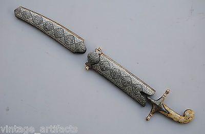 Indo Persian Mughal Ottoman Islamic Silver Work Shamshir Kilij Zulfikar Parts