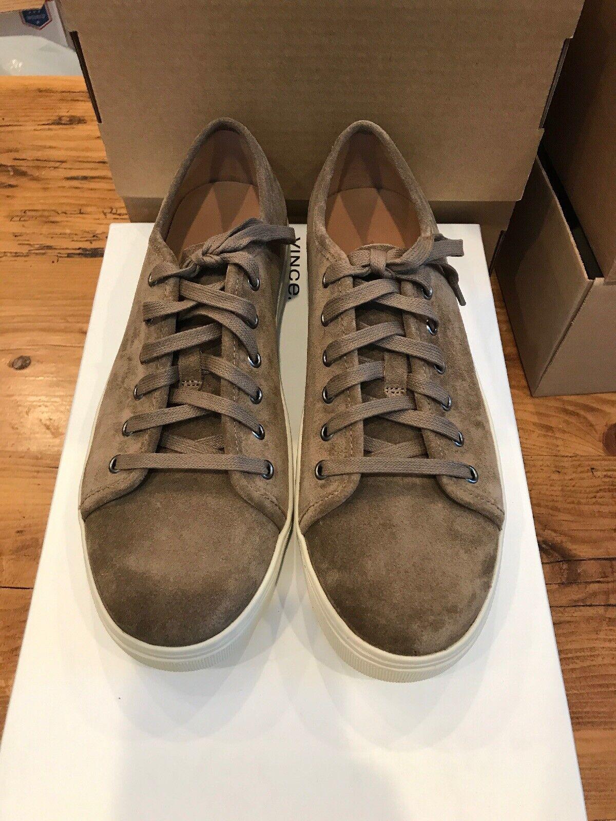 Vince Copeland Austin Suede Sneakers - Size 8 color Truffle
