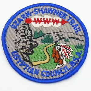 Vintage-Ozark-Shawnee-Trail-Egyptian-Council-Boy-Scout-Patch-OA-WWW