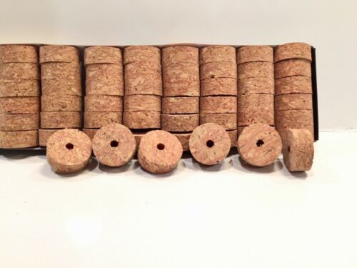 "Cork Rings 12 Deep Grain Red Burl 1 1//4/"" x 1//2/"" x1//4/"" Hole"