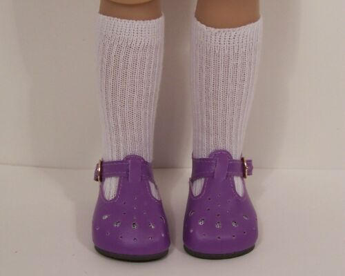 "DK LAVENDER T-Strap SM Doll Shoes For Sonja Hartmann 18/"" Kidz n Cats Debs"