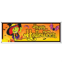 Happy Halloween Party Gag Banner Size: 5ft By 21 In.