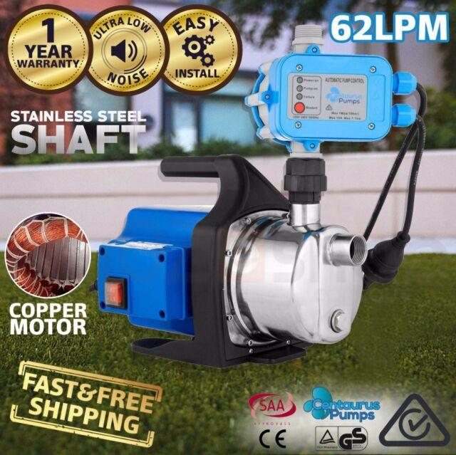 CENTAURUS 1200W Rain Water Tank Pump Weatherproof Stainless Steel Auto Pressure