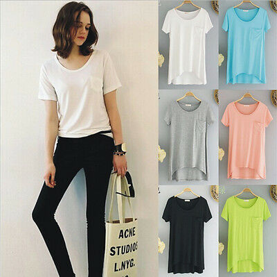 New Women's Short Sleeve Shirt Casual Lace Blouse Loose Cotton Tops Lady T Shirt