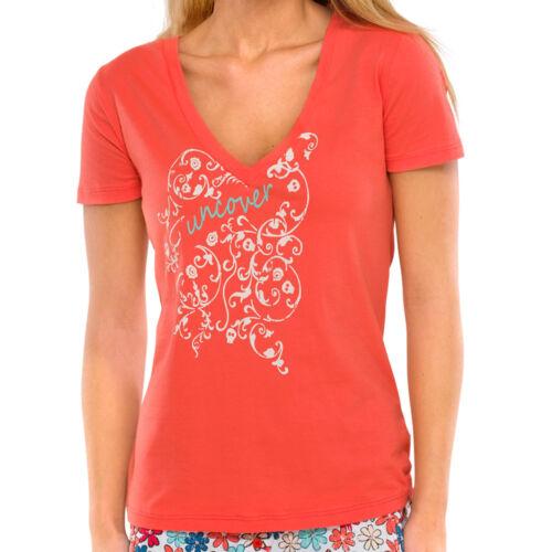 Uncover by Schiesser Damen Mix /& Relax Jersey Shirt  XS S M L XL koralle NEU