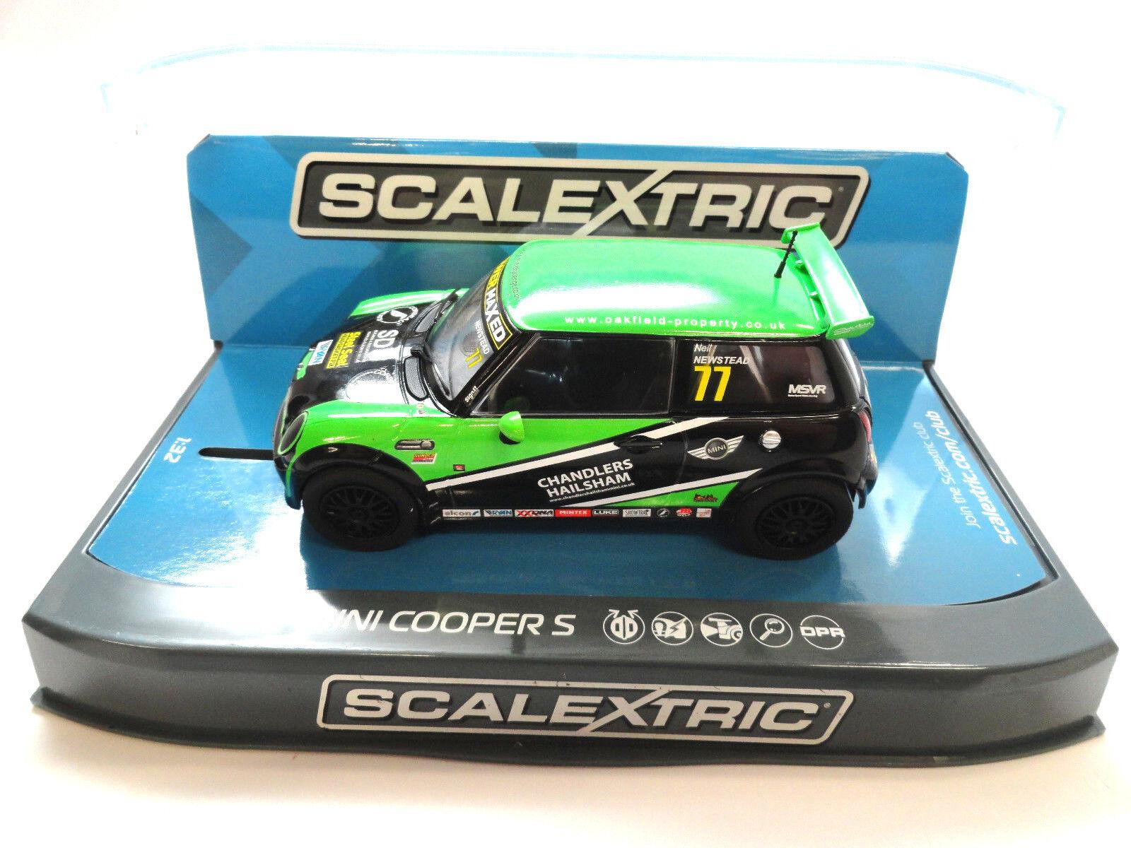 Scalextric  Chandlers Hailsham  BMW Mini Cooper S DPR 1 32 Scale Slot Car C3743