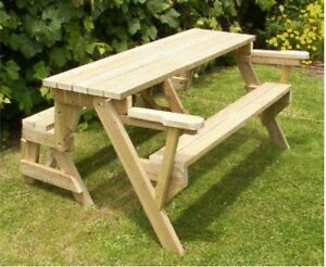 Plans Bench That Folds Into A Picnic Table Emailed To You Ebay