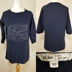 Fat-Face-Ladies-Navy-Blue-Sweatshirt-Jumper-Size-10-Casual