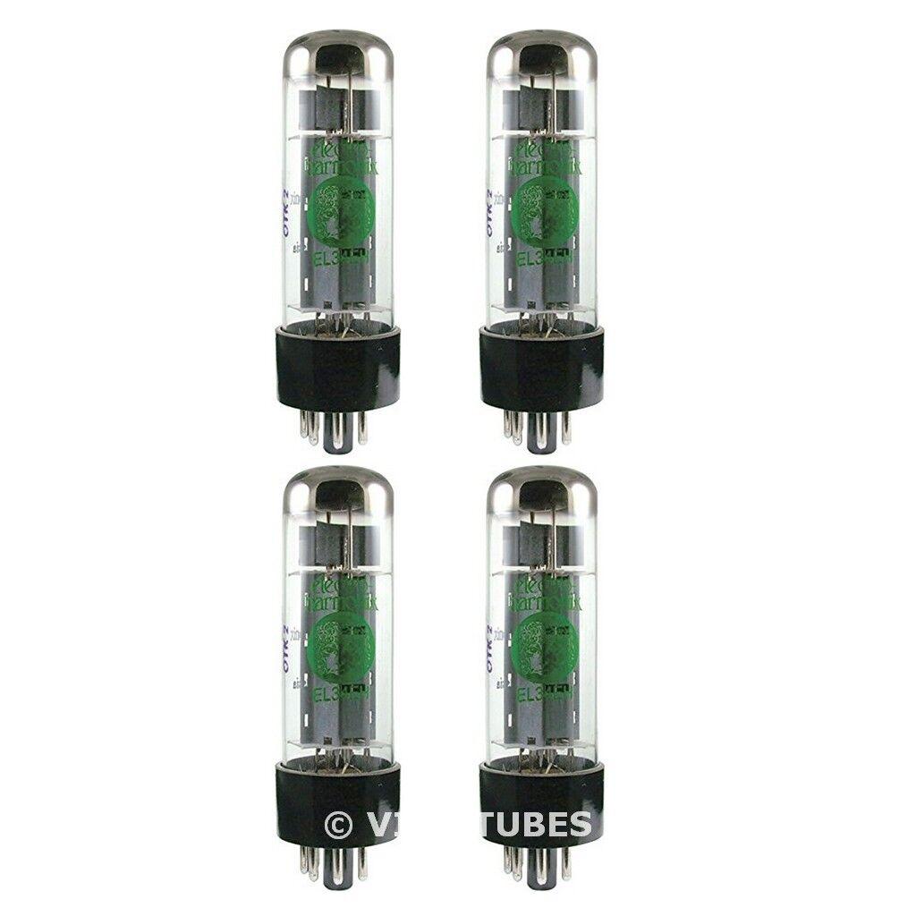 New Current Matched Quad (4) Electro-Harmonix EL34 Small Bottle Vacuum Tubes